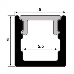 SJ-ALP0808 Aluminum led strip channel