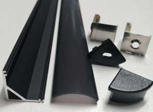 SJ-ALP1616 Back corner profile with black cover