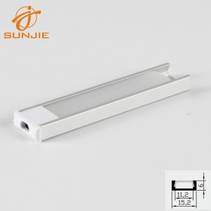 SJ-ALP1506 led alu extrusion with insert type cover diffuser