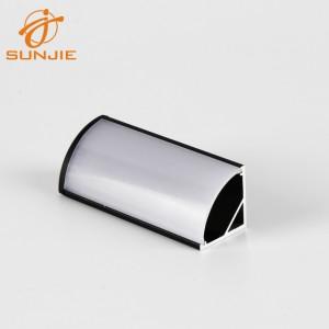 SJ-ALP1616 Back anodized Aluminum corner profile