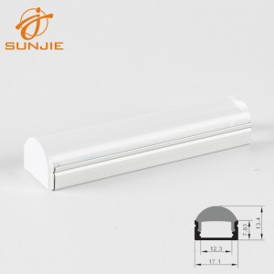 SJ-ALP1707F LED Aluminum Profile with 60 degrees Clear Lens