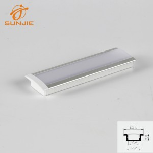 SJ-ALP2508 Aluminum LED Extrusion Recessed Mounted