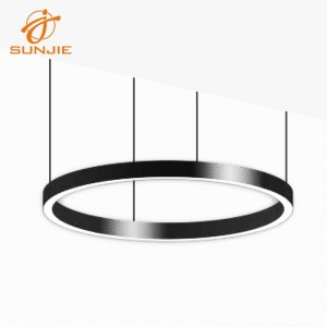 DIY Circular Aluminum LED Profile for Suspended Mounted