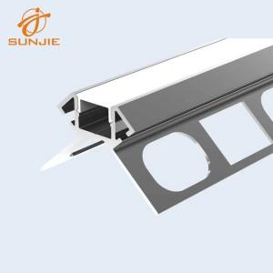 SJ-ALP3927 Architectural LED Aluminum Profile for Tile Mounted outside corner