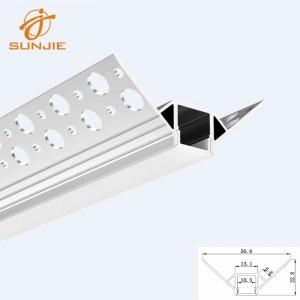 SJ-ALP4822 Plaster in Architectural LED Profile for Drywall Outsider Corner Mounted