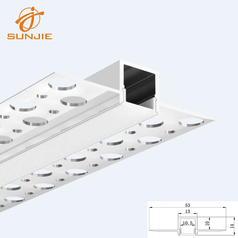 SJ-ALP5213 Slim Architectural Aluminum led profile for drywall with 10mm internal width